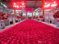 Wholesale Wholesale Discount Props - Big Discount 10M per lot 1.45 m Width Romantic 3D Rose Petal Carpet Aisle Runner For Wedding Backdrop Decorations Shooting Props