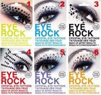 tatuajes de ojo de halloween al por mayor-Sombra de ojos temporales Flash Tattoo Stickers Ojo de la roca 3D DIY Sexo Rhinestone Tatuajes Body Art Halloween Fashoin Make Up