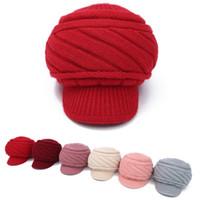 klasik büyüleyici şapkalar toptan satış-Vintage Kızlar Bayanlar kadınlar üst moda Fascinator Ilmek Disket Sevimli kış şapka Caps Blend Fötr Bow Bow Şapka Örme yün bere Kapaklar