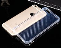 Wholesale iphone6 transparent case online - For iphone S S SE plus Shockproof Defender Transparent Clear Slim TPU Gel Soft Phone Back Case Cover For iphone6 plus