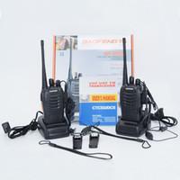 ingrosso 5w uhf walkie-BF-888S 400-470 MHz 5 W 16CH Portatile Radio bidirezionale Walkie Talkie Interphone con 1500 MAH Batteria 888 S spedizione gratuita