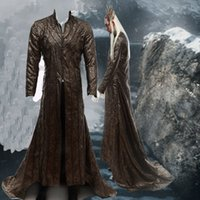 Wholesale Lord Rings Cosplay - HOT Movie COS The Hobbit Lord of the Rings Lee Pace Thranduil Cosplay Costumes Any Size Halloween