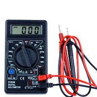 multímetro ohmímetro al por mayor-Multímetro digital LCD Probador Medidor Voltímetro Amperímetro Ohm DT830B INS_513