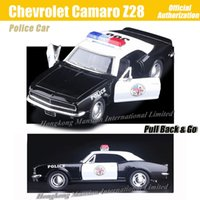 Wholesale 36 Chevrolet - 1:36 Scale Alloy Metal Diecast ForPolice Car Model For Chevrolet Camaro Z28 Collection Model Pull Back Toys Car - Black
