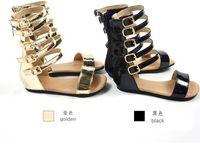 Wholesale Lovely Fashion Wholesale Shoes - 2016 New Arrival Kids Girl Summer Gladiator Shoe Children Lovely Fashion Sandals Girl Casual Sandals Shoe Size : 25-29 Gold Black Color EK40