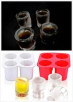 ingrosso stampo di birra-Stampi in silicone Stampi ECO Bicchieri da vino Maker Bicchieri da cocktail Ice Cube Beer Cold Keeper Wine Glass Mold Vendita calda