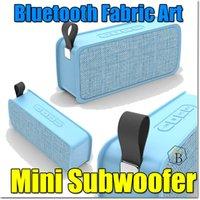 Wholesale Shipping Fashion Speakers - Bluetooth Fabric art Speaker JC200 New 2018 Quality Portable Fashion Subwoofer Mini Wireless Speaker Handfree TF AUX FM Free DHL shipping