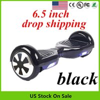 Wholesale Electric Scooter Ce - USA Stock Smart Hoverboard CE FCC ROHS Smart Balancing Wheel Skateboard Unicycle 6.5 inch Two wheel Electric Standing Scooter