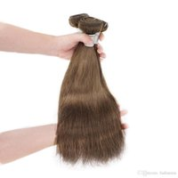 Wholesale Cheap Light Brown Weave - Unprocessed Remy Human Hair Bundles Weaves Silky Straight 3pcs #4 Light Brown No Shedding Raw Temple Indian Virgin Hair Extension Cheap A9