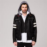 Wholesale Alex Mercer Prototype Jacket - Fall-Alex Mercer Prototype Jacket mens faux leather jackets russia Clothes Autumn And Winter coat man Washed leather brand jacket