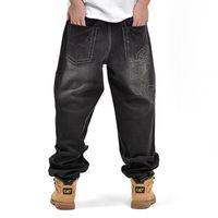 Wholesale Men Long Baggy Pants - American Style Brand Mens Baggy Jeans Loose Plus Big Size Jeans Men Hip Hop Jeans Long Skate Board Jean Harem Pants