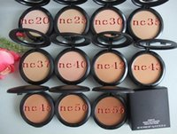 Wholesale new make up brands - Hot sale New Foundation Brand Make up Studio Fix Powder Cake Easy to Wear Face Powder Blot Pressed Powder Sun Block Foundation g NC NW