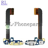 Wholesale One M7 Dock - 10pcs lot Usb Dock Connector Charger Charging Port Flex Cable Ribbon For HTC One M7 M8 M9 Mic Headphone Audio Jack (RL)