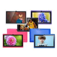 Wholesale Google Android Wifi Tablet - 7inch A33 Q88 Quad Core Tablet PC AllWinner Android tablet pc 4GB 512MB Dual camera Wifi OTG Google Play Store External