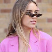 Wholesale Water Drop Frame - New Cool Small Size Water Drops Cateye 2018 Sunglasses Women Top Quality Rivet Vintage Sun Glasses Brand Designer Gafas De Sol