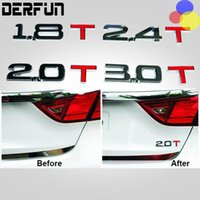 Carro 3D do emblema do emblema adesivo decalque 1.8T 2.0T 2.2T 2.4T 2.8T 3.0T Styling Fit For Volkswagen VW Ford TT Q3