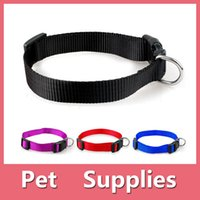 Wholesale New Trendy Ornaments - 1 Pc Pet Dog Puppy New 2016 Trendy Charming 4 Sizes S-XL Nylon Solid Collar With 4 Colors