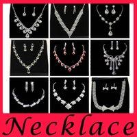 Wholesale Cheap Diamond Rhinestones - 2016 Cheap New Wedding Necklaces Wedding Dresses Crystal Beads Party Bride Chandelier Rhinestone Party Decoration Imitation Diamond Chokers