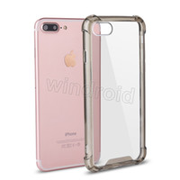 Wholesale iphone 5s mobile case - Transparent Clear Case For iPhone X 10 8 7 6 6S Plus 5 5S SE Cover Shockproof Acrylic Hard Case Mobile Phone Accessories For samsung NOTE 8