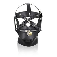 US New Sexy Party Leather Gimp Toy Head Harness Hood Mask Фетиш Хэллоуина # R172