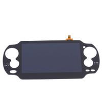 цифровое касание кадра оптовых-Бесплатная доставка новый ЖК-дисплей с сенсорным экраном с рамкой цифровой сборочный дисплей для PS Vita PSVita 1000