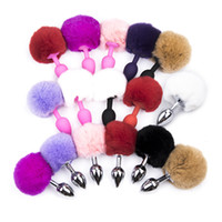 Wholesale Juguetes Sexuales Unisex - 2017 new real colonia juguetes sexuales 1classic tail hair balls anal plug silica gel flirt adult sex supplies of men and women with