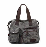 Wholesale Miss Handbags - Miss Han Ban Shoulder Bag Messenger Bag Handbag New Retro Trend of Casual Canvas Bag Handbag