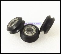 Wholesale Printer Rollers - Wholesale- 10pcs Lot BW25 5mm W V groove bearing Openbuilds for 3D printer nylon wheel ball bearing with pulley track roller brand new