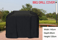 Wholesale New Arrival goods patio Water proofed BBQ grill cover Lx25 Wx47 H x65x120cm with ribbons Black color