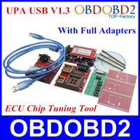 Wholesale Upa Usb Full Adapters - Wholesale-2016 Newest UPA USB Programmer V1.3 With Full Adapters UPA-USB Serial Programmer Auto ECU Chip Tuning Tool 3 Years Warranty