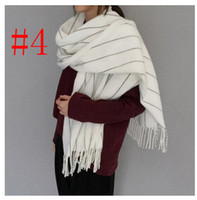 Wholesale Christmas Shawl Men - 2016 NEW Solid Large Scarf Super Soft Men Women Plain Stole Blanket Scarves Winter Thickening Warm Scarves Best Christmas Gifts