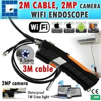 N04WF200_HD_3M HD wasserdichtes 3M iPad IPhone iOS Android WiFi Inspektion 8.5mm Kamera Borescope Snakescope Endoskop 3 Meter flexibles Kabel