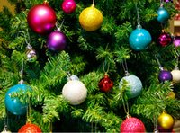 Wholesale Hot Pink Christmas Tree Ornaments - Festival Use Hot Selling 24pcs  lot Christmas Tree Decor Ball Bauble Hanging Xmas Party Ornament decorations for Home Decoration