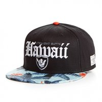 Wholesale Trees Snapback - Brand UTTA HAWAII CAP BLACK WHITE Coconut trees snapback hat bone for men women baseball cap adult sports hip hop sun casual cap