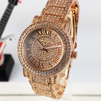 Wholesale Diamond Band Watches - Hot Luxury watches Women Watch Top Brand Diamond Dial Band Roman numerals Quartz Watches For girls Ladies Designer Wristwatch free shipping