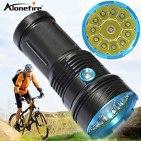 Wholesale Camping Lamps Led - 20000 lumens 12T6 LED flashlamp 12 x CREE XM-L T6 Tactical Portable Led Flashlight Hunting Lamp Flashlights Torch
