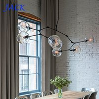 Wholesale Glass Crystal Christmas Tree - 2016 Lindsey Adelman Chandeliers lighting modern lamp novelty pendant lamp natural tree branch suspension Christmas light hotel dinning room