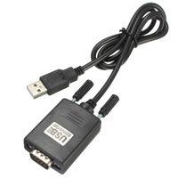 usb 232 toptan satış-500 adet USB 9 Pin RS232 RS-232 seri port com adaptör kablosu dönüştürücü Y-105 USB Çift Çip DB9 GPS PL2303 + ADM211 1 M / 3ft