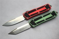 Wholesale Super Defense - Free shipping,Super light Top funtion microtech Scarab style knife(Red Green)Satin Knife.Blade:D2,Handle:aluminum,gift knive free shipping