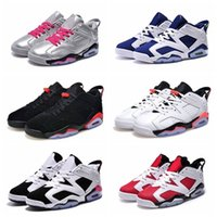 Wholesale Smart Shoes Mans - Wholesale Free Shipping retro outdoor light and smart Men basketball shoes mens retro 6s shoes low sports shoes high men shoes all sizes