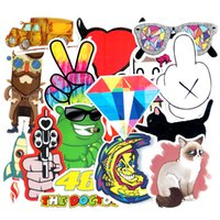 Wholesale Design Wall Diy - Diy stickers posters wall stickers for kids rooms home decor sticker on laptop skateboard luggage wall decals car sticker 20pcs
