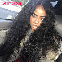 Wholesale Malaysian Virgin Hair Cap - Glamorous Human Lace Front Wigs 10-30Inches Natual Color Average Cap Size Peruvian Virgin Human Hair Deep Wave Full Lace Wigs