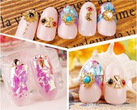 Wholesale Nail Art Stickers Japanese - F401 12 Color Japanese Glitter Powder Nail Art Decals Sticker Japan&Korean Candy Style Dacal Sticker Wholesale Hot