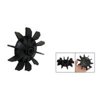 Wholesale Wholesale Air Compressor Parts - Wholesale- CAA Hot New Air Compressor Part Black Plastic 14mm Inner Dia,Ten Vanes Motor Fan Blade