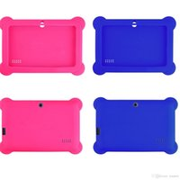 "Wholesale Tablet Covers Inch Rubber - Anti Dust Kids Child Soft Silicone Rubber Gel Case Cover For 7"" 7 Inch Q88 Q8 A33 A23 Android Tablet pc MID Free shipping 10 colorful"
