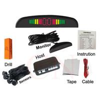 Wholesale Car Reverse Parking Sensor System - Car Auto Parktronic LED Parking Sensor With 4 Sensors Reverse Backup Car Parking Radar Monitor Detector System Backlight Display