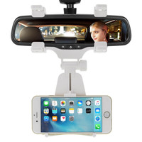 Atacado Universal Car Espelho Retrovisor Mount Holder Car Phone Holder Cradle para o iPhone Samsung GPS PDA MP4