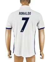 Wholesale Order Football Jerseys Cheap - 2016-17 Thailand Quality Home White #7 Ronaldo Soccer Jerseys, Cheap Football Soccer Jersey Mix Order Accepted,16-17 Soccer Jerseys Tops