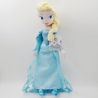 Wholesale Wholesale Plush Toys Great Quality - 50CM High quality The Movie Frozen Plush Princess Elsa and Anna Plush Dolls Great Toys For Children Free Shipping