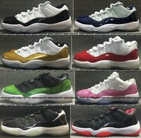 Wholesale Eva Balls - Women Mens Bred Legend Blue Retro 11 basketball shoes New Space Jam Gamma XI Sneakers North Carolina blue basket Ball Retros 11s shoes